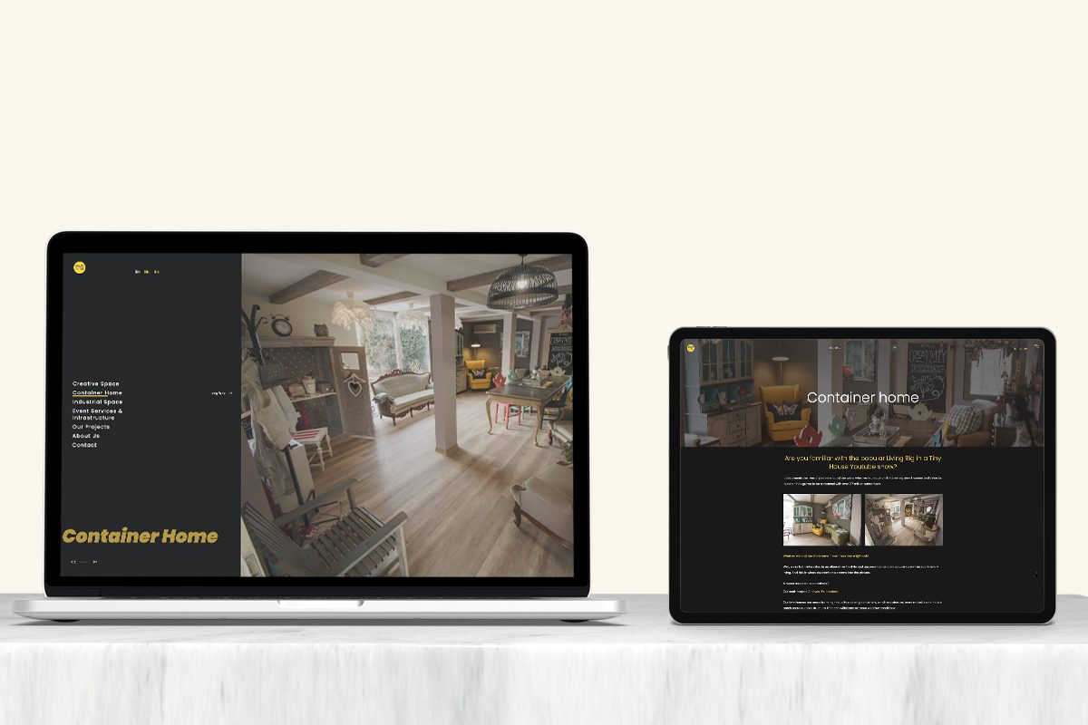 muvin containers responsive wordpress website